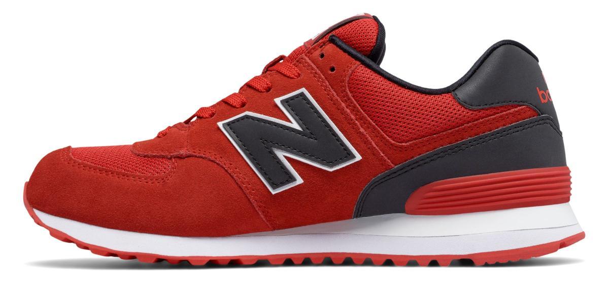 new balance 574 uomo rosse